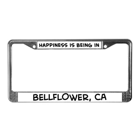 Happiness is Bellflower License Plate Frame