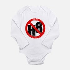 No Hate - < NO H8 > Long Sleeve Infant Bodysuit