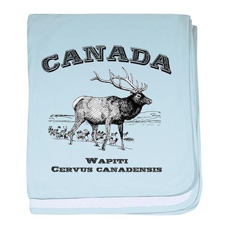 Canadian Wapiti baby blanket