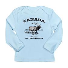 Canadian Wapiti Long Sleeve Infant T-Shirt