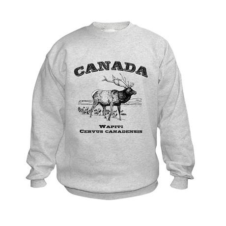 Canadian Wapiti Kids Sweatshirt