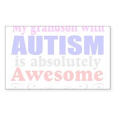 Awesome autism grandson Decal