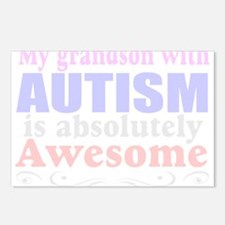 Awesome autism grandson Postcards (Package of 8)