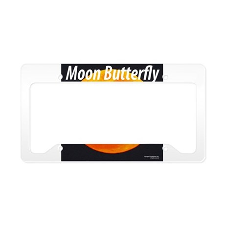 BUTTERFLY MOON License Plate Holder