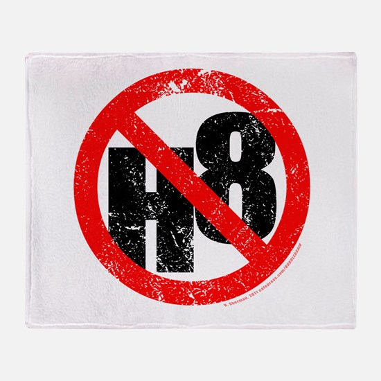 No Hate - < NO H8 > Throw Blanket