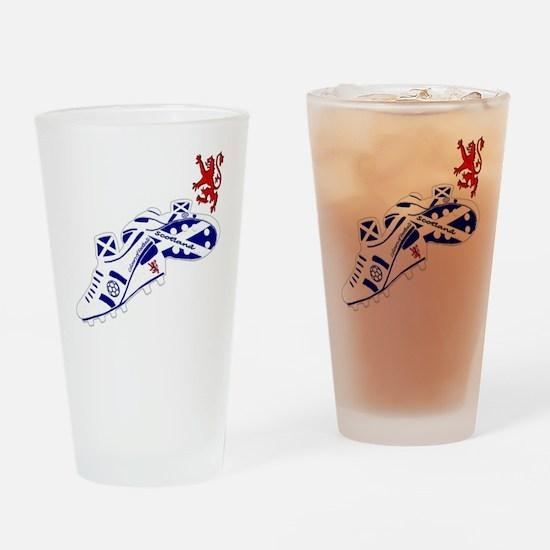 Scottish white football boots Drinking Glass