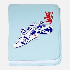 Scottish white football boots baby blanket
