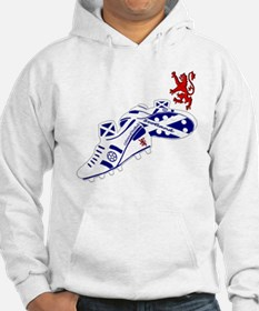Scottish white football boots Jumper Hoody