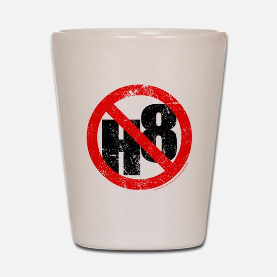 No Hate - < NO H8 > Shot Glass