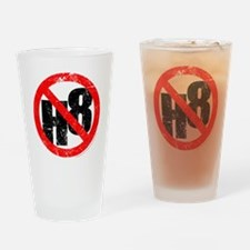 No Hate - < NO H8 > Drinking Glass