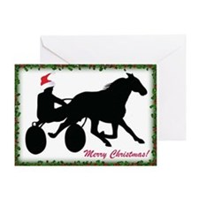 Merry Christmas Harness Racing Trotter Card