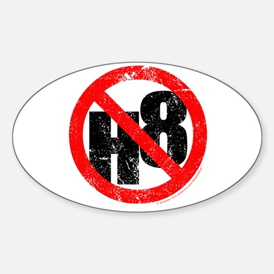 No Hate - < NO H8 > Sticker (Oval)