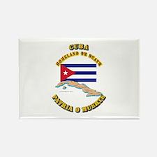 Emblem - Cuba Rectangle Magnet