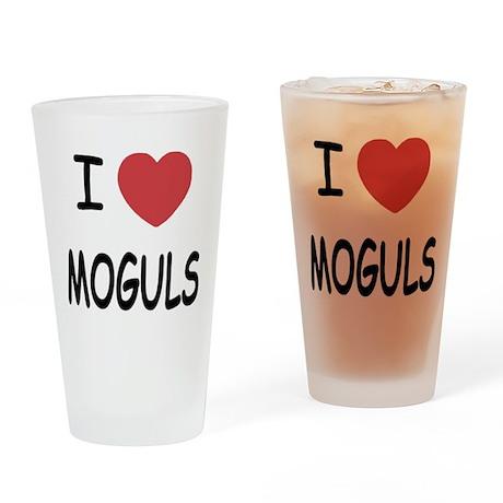 I heart moguls Drinking Glass