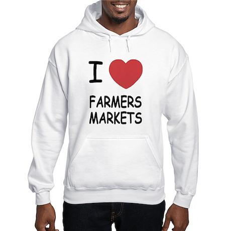 I heart farmers markets Hooded Sweatshirt
