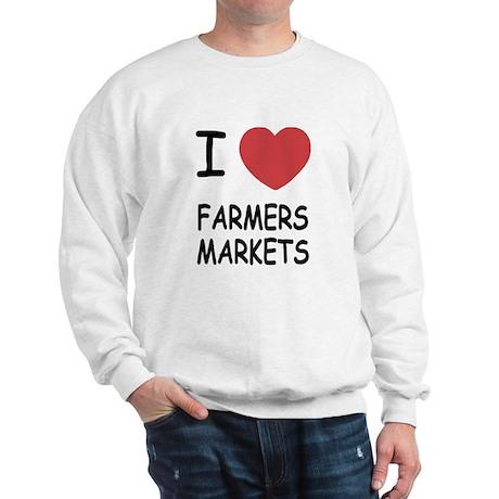 I heart farmers markets Sweatshirt