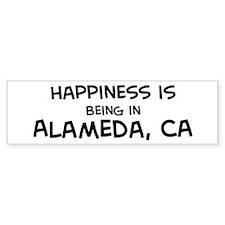 Happiness is Alameda Bumper Bumper Sticker