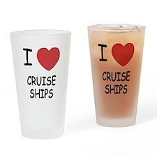 I heart cruise ships Drinking Glass