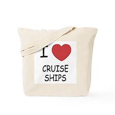 I heart cruise ships Tote Bag
