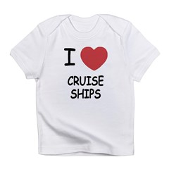 I heart cruise ships Infant T-Shirt