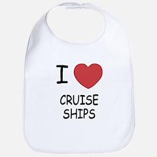 I heart cruise ships Bib