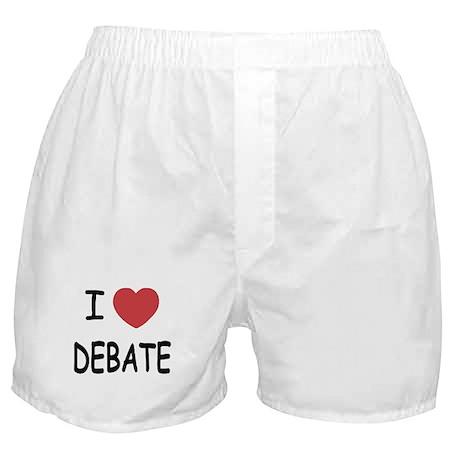 I heart debate Boxer Shorts