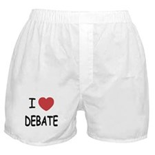 I heart debate Boxer Shorts