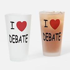 I heart debate Drinking Glass
