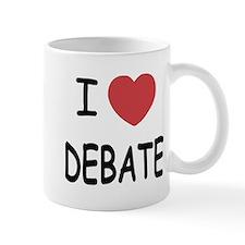 I heart debate Mug