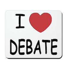 I heart debate Mousepad