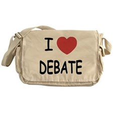 I heart debate Messenger Bag