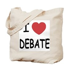 I heart debate Tote Bag