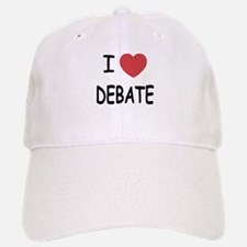 I heart debate Baseball Baseball Cap