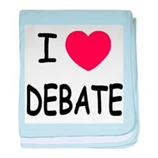 I heart debate baby blanket
