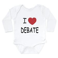 I heart debate Long Sleeve Infant Bodysuit