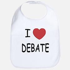 I heart debate Bib