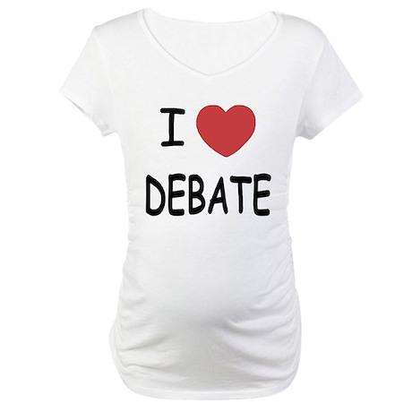 I heart debate Maternity T-Shirt