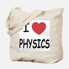 I heart physics Tote Bag