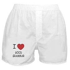 I heart good grammar Boxer Shorts