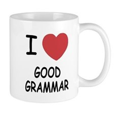 I heart good grammar Mug