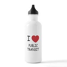 I heart public transit Water Bottle