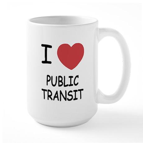I heart public transit Large Mug