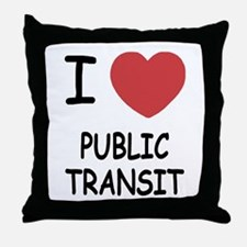 I heart public transit Throw Pillow