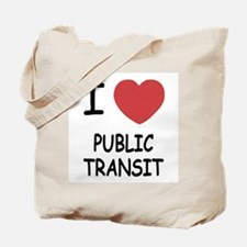 I heart public transit Tote Bag