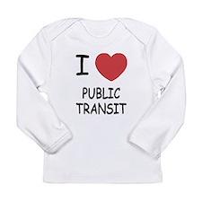 I heart public transit Long Sleeve Infant T-Shirt