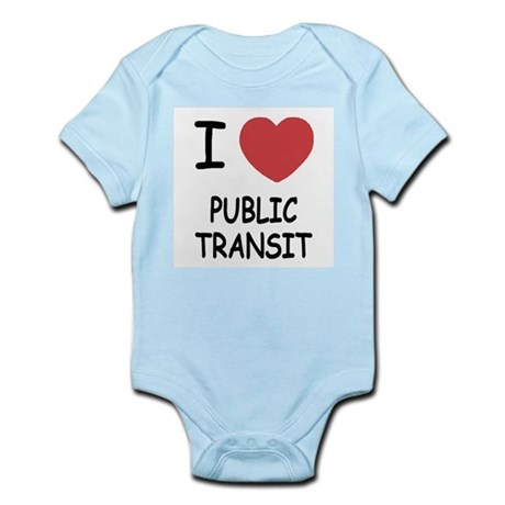 I heart public transit Infant Bodysuit