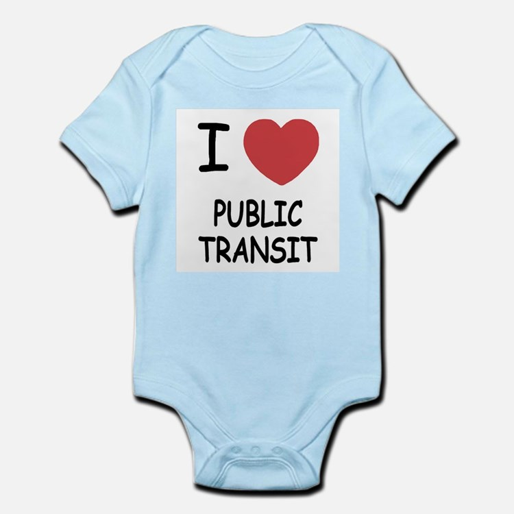 I heart public transit Infant Bodysuit