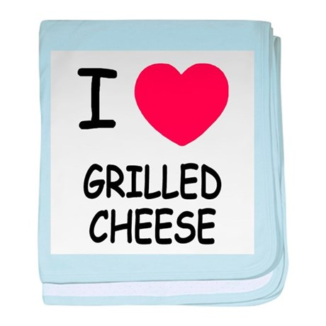 I heart grilled cheese baby blanket