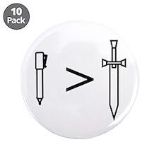 "Pen > Sword 3.5"" Button (10 pack)"