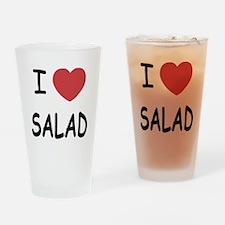I heart salad Drinking Glass